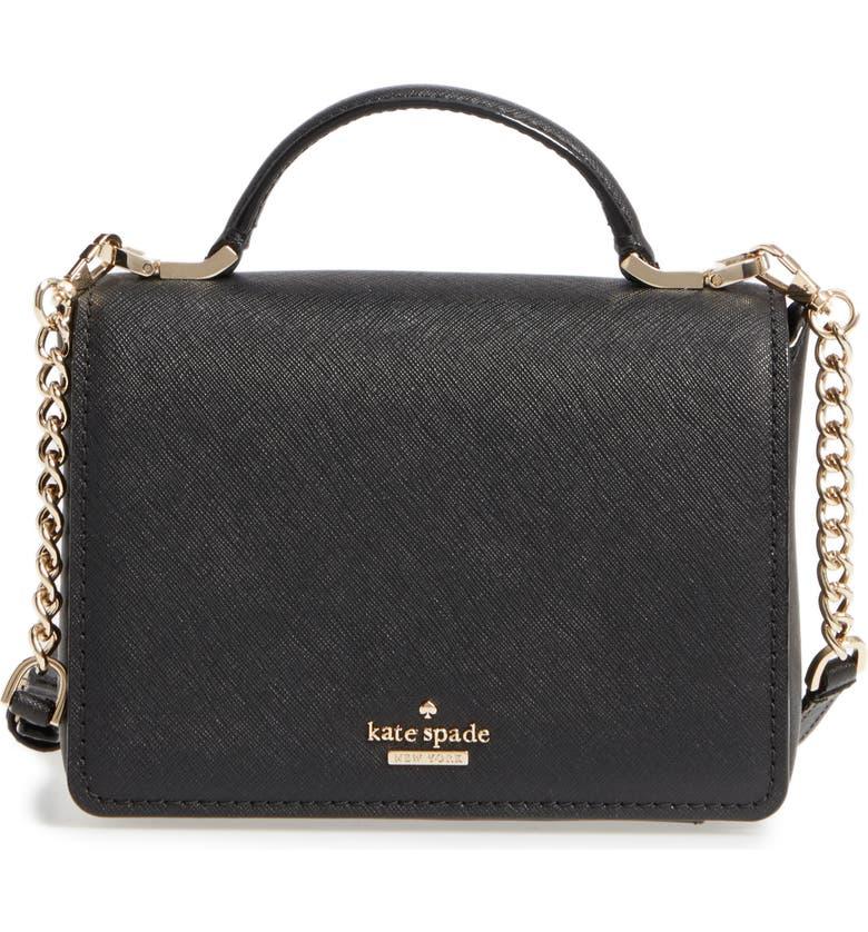 KATE SPADE NEW YORK cameron street - hope saffiano leather crossbody bag, Main, color, 001