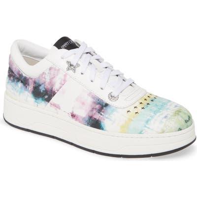 Jimmy Choo Hawaii Tie Dye Sneaker, White
