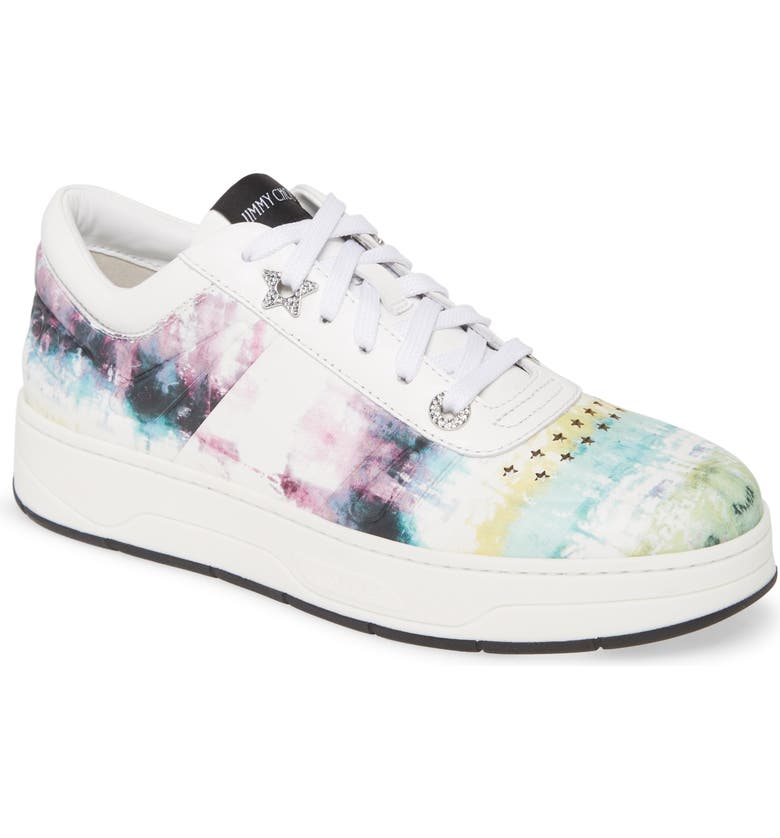 JIMMY CHOO Hawaii Tie Dye Sneaker, Main, color, OASIS
