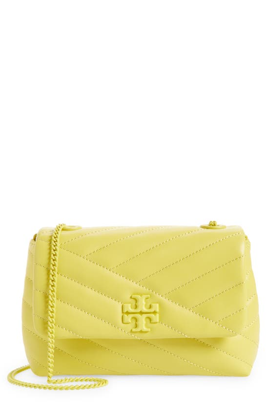 Tory Burch KIRA CHEVRON QUILTED SMALL CONVERTIBLE LEATHER CROSSBODY BAG