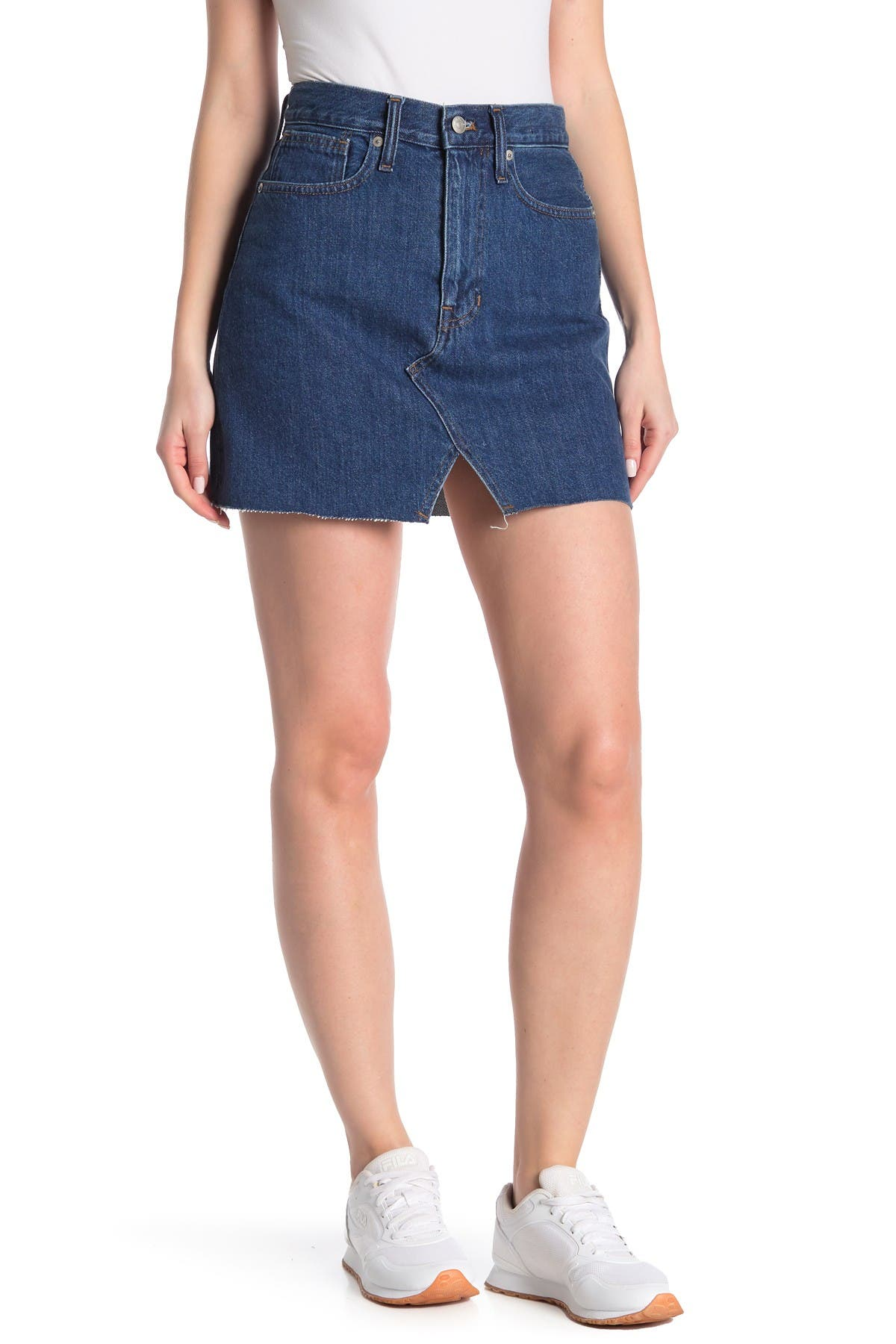 Image of Madewell McCaren Cutout Denim Mini Skirt