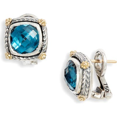 Konstantino Delos Blue Topaz Stud Earrings