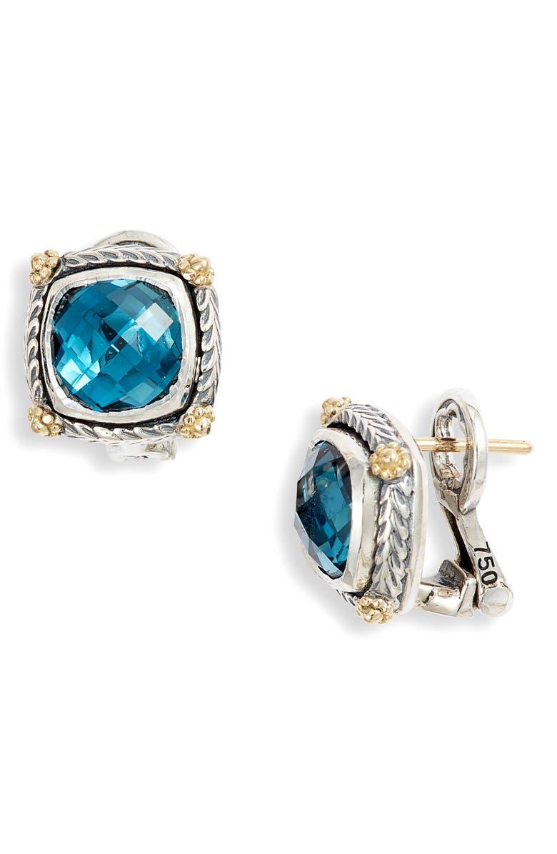 KONSTANTINO Delos Blue Topaz Stud Earrings, Main, color, 400