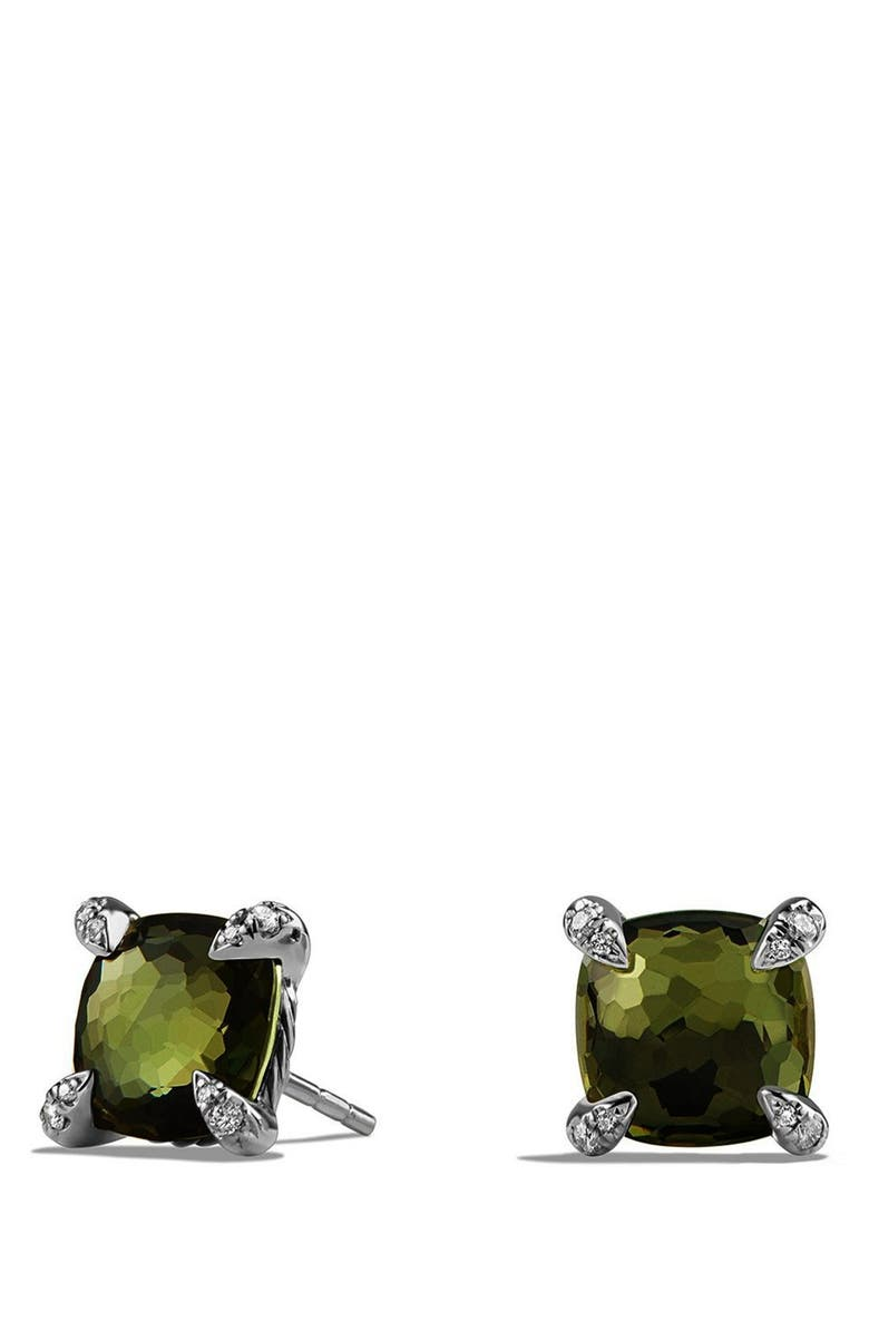 DAVID YURMAN 'Châtelaine' Earrings with Semiprecious Stones and Diamonds, Main, color, SILVER/ CITRINE/ HEMATINE