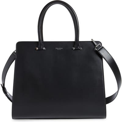 Serapian Milano Villa Leather Top Handle Bag - Black