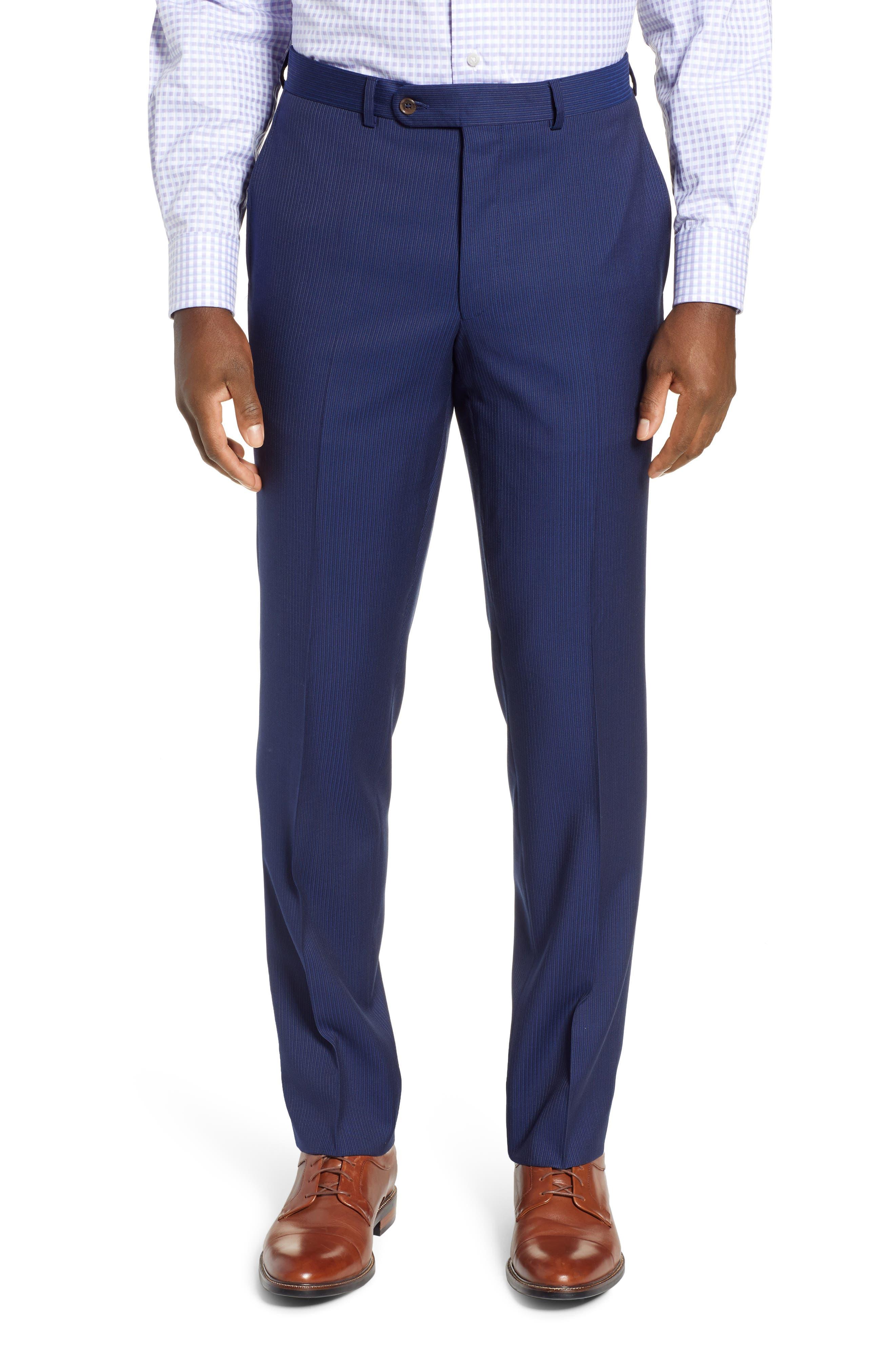 ,                             Ryan Classic Fit Stripe Wool Suit,                             Alternate thumbnail 6, color,                             410
