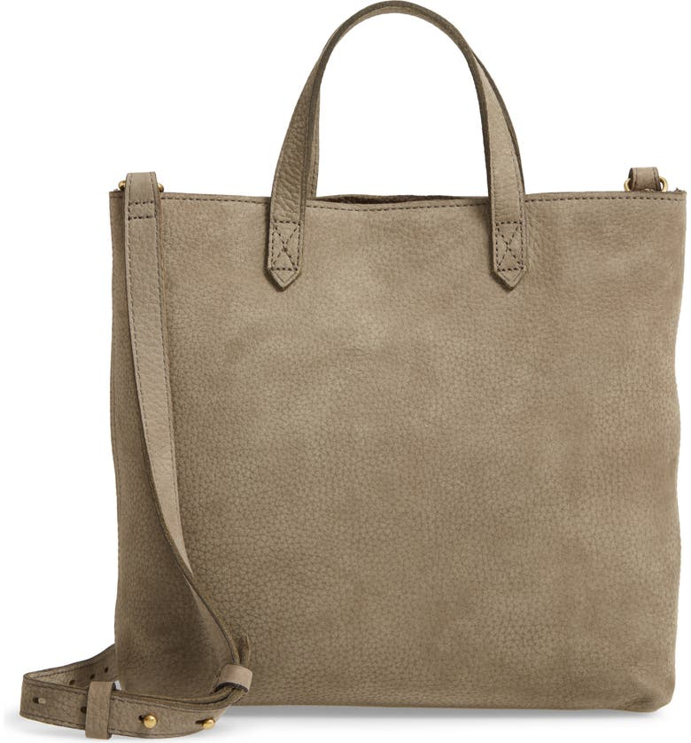 MADEWELL The Zip Top Transport Leather Shoulder Bag, Main, color, FROSTED WILLOW