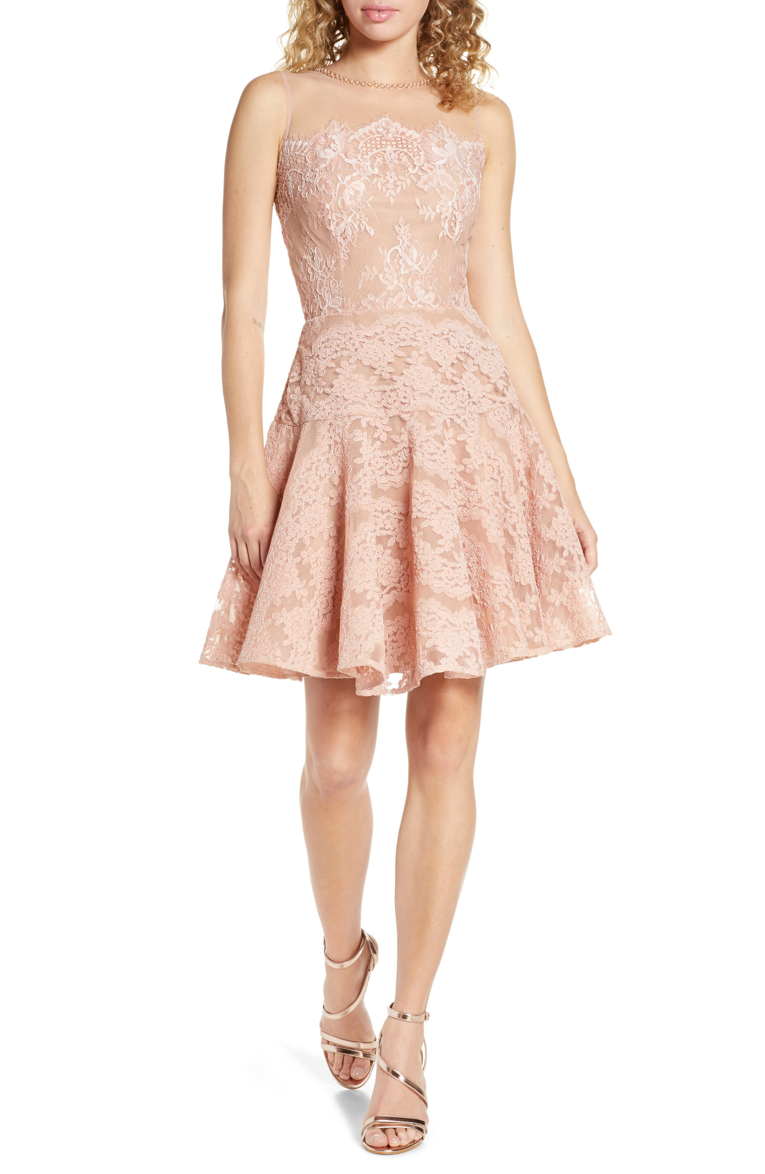Bronx And Banco Anabelle Blush Party Dress, Pink