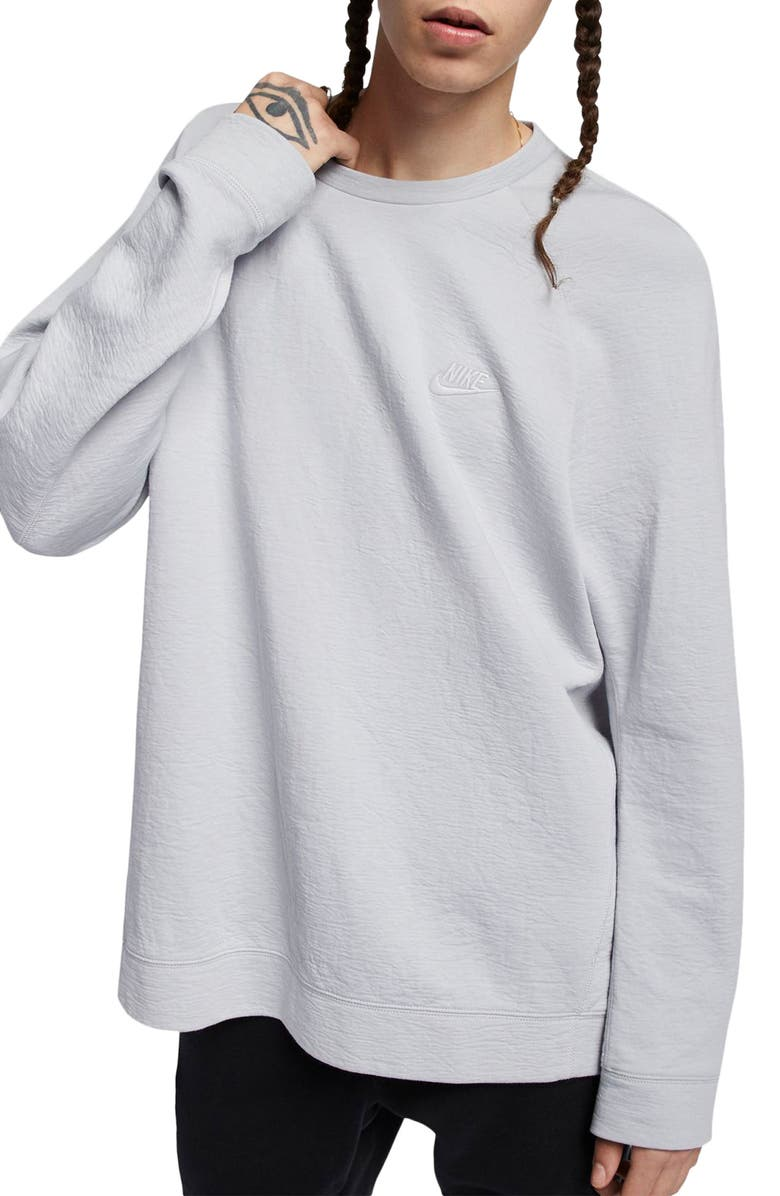 NIKE Sportswear Crewneck Pullover, Main, color, WOLF GREY