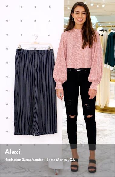 Raoka Stripe Wide Leg Crop Silk Pants, sales video thumbnail