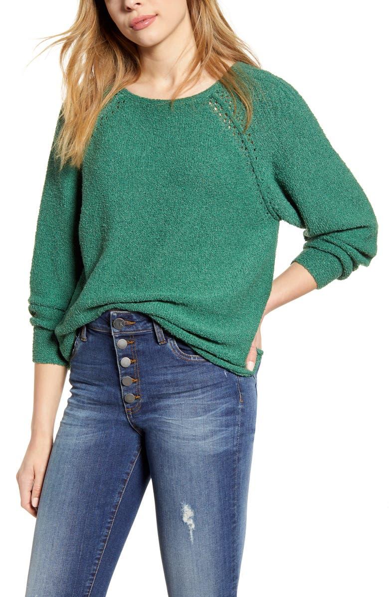 CASLON<SUP>®</SUP> Boat Neck Bouclé Sweater, Main, color, 301