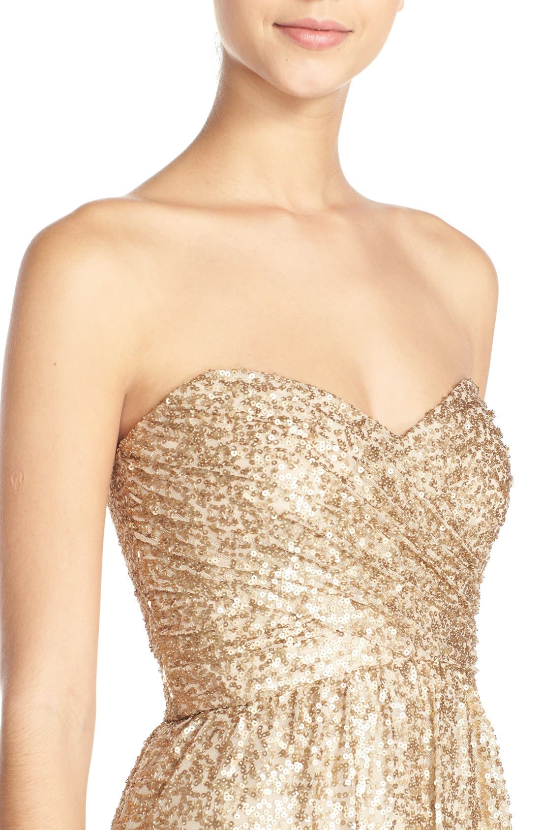 ,                             'London' Sequin Tulle Strapless Column Gown,                             Alternate thumbnail 2, color,                             710