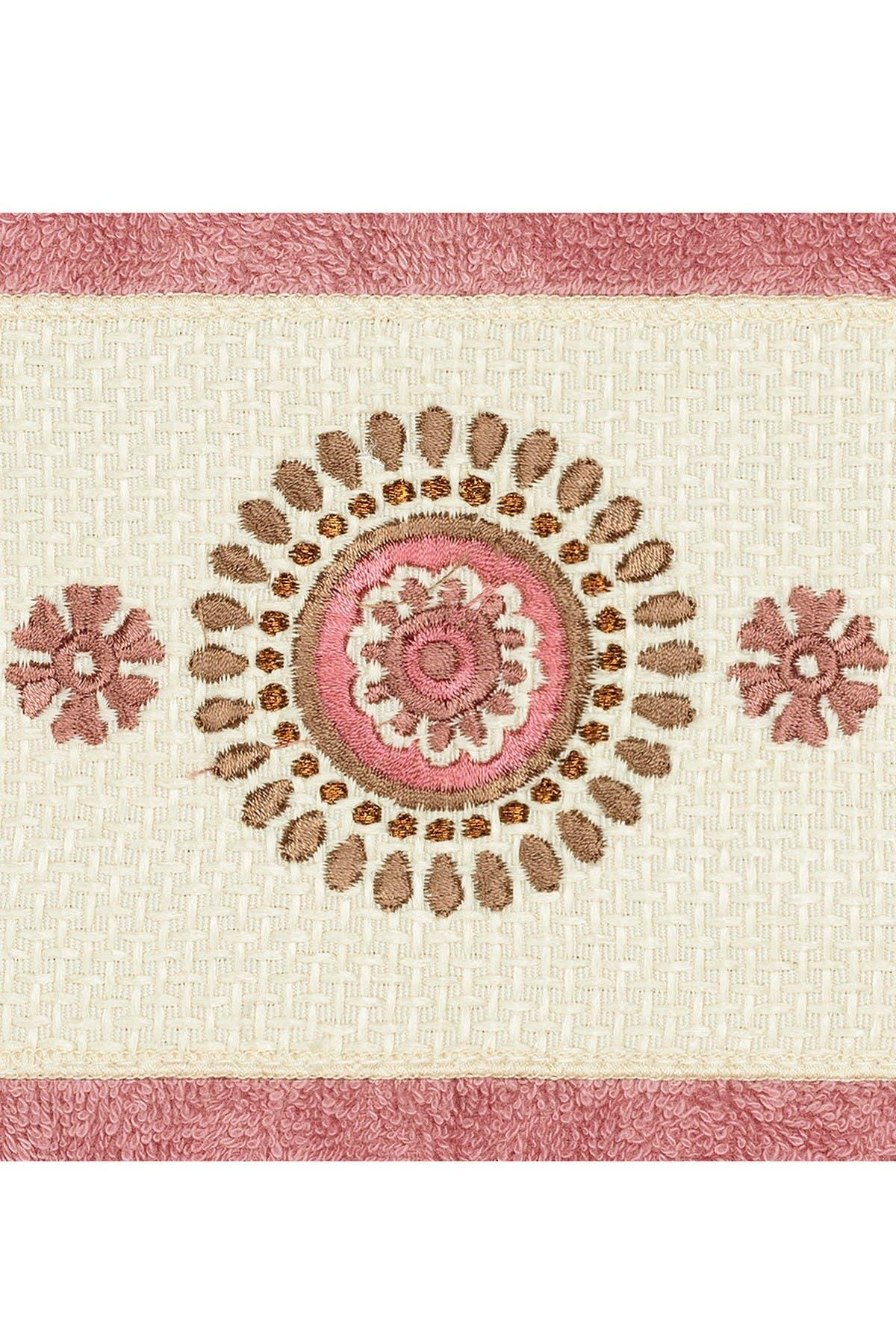 Image of LINUM HOME Isabell Embellished Hand Towel - Set of 2 - Tea Rose
