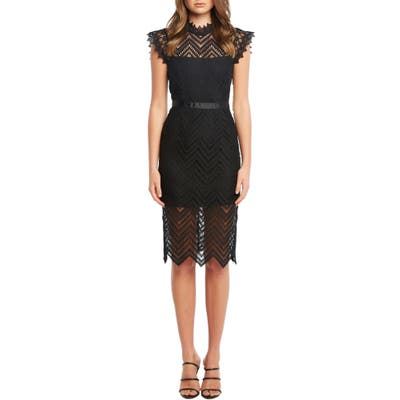 Bardot Imogen Lace Sheath, Black