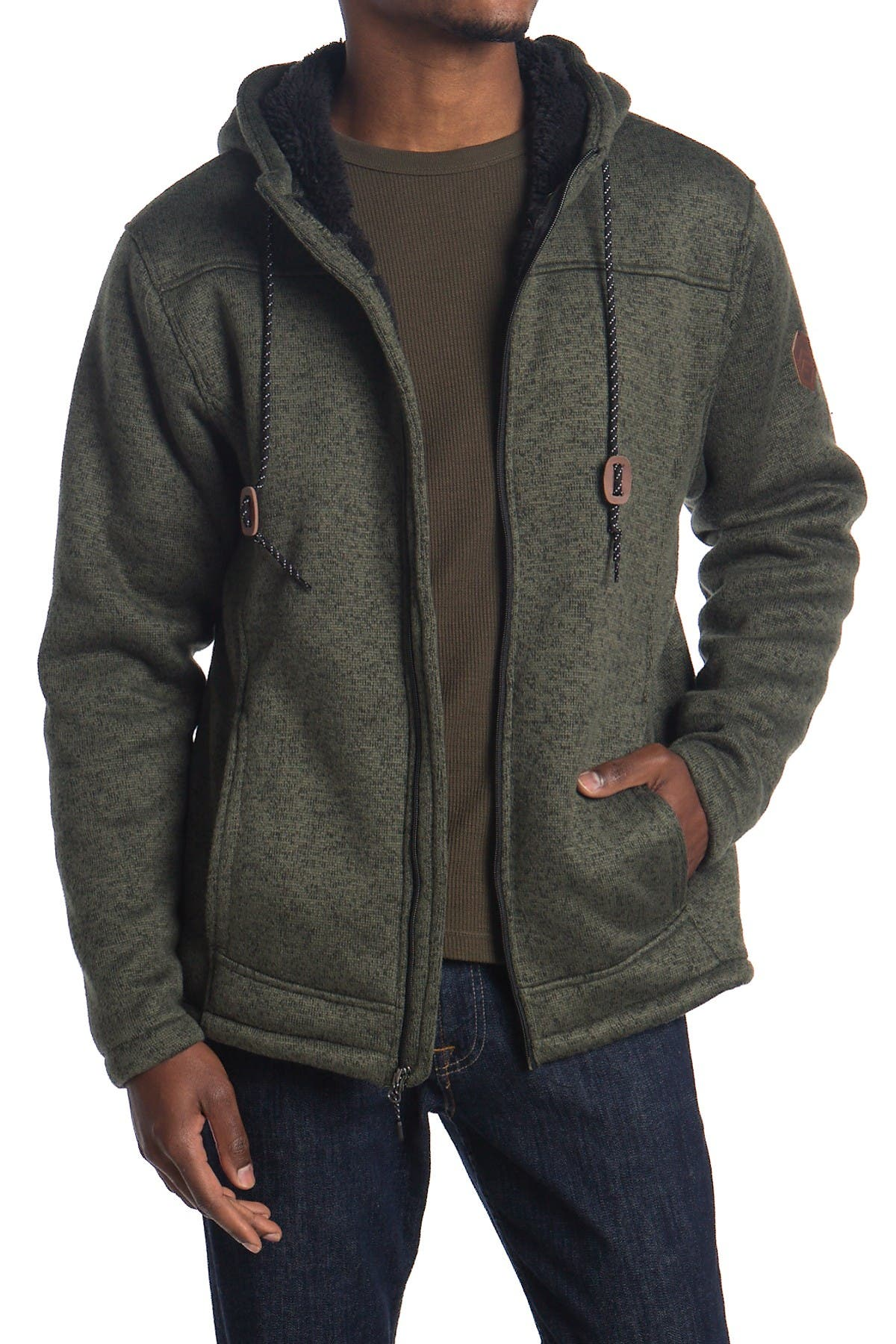 Image of Free Country Faux Shearling Lined Zip Jacket