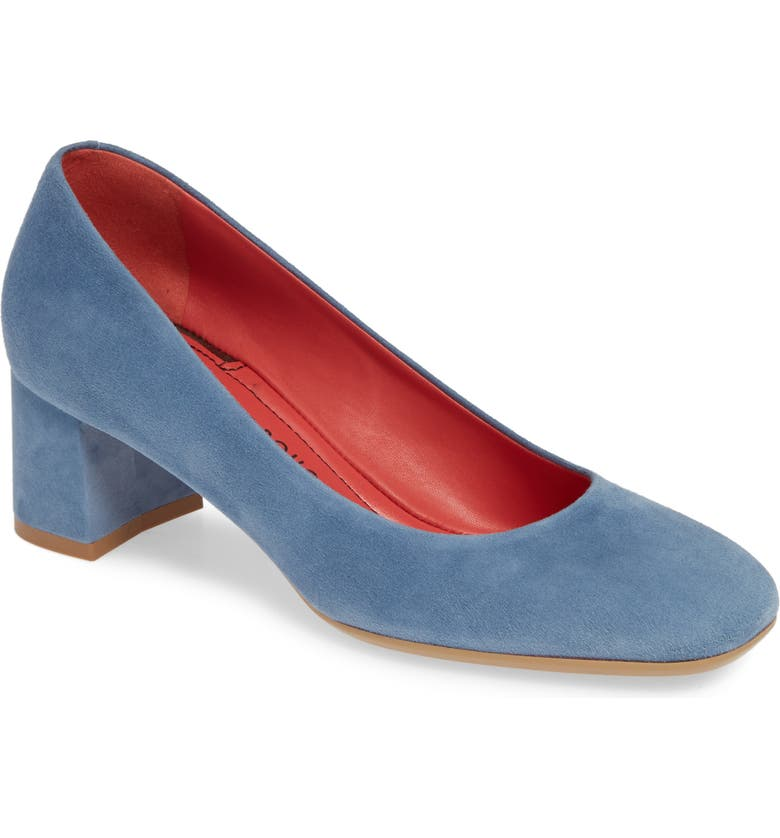 PAS DE ROUGE Chantel Pump, Main, color, LIGHT BLUE SUEDE