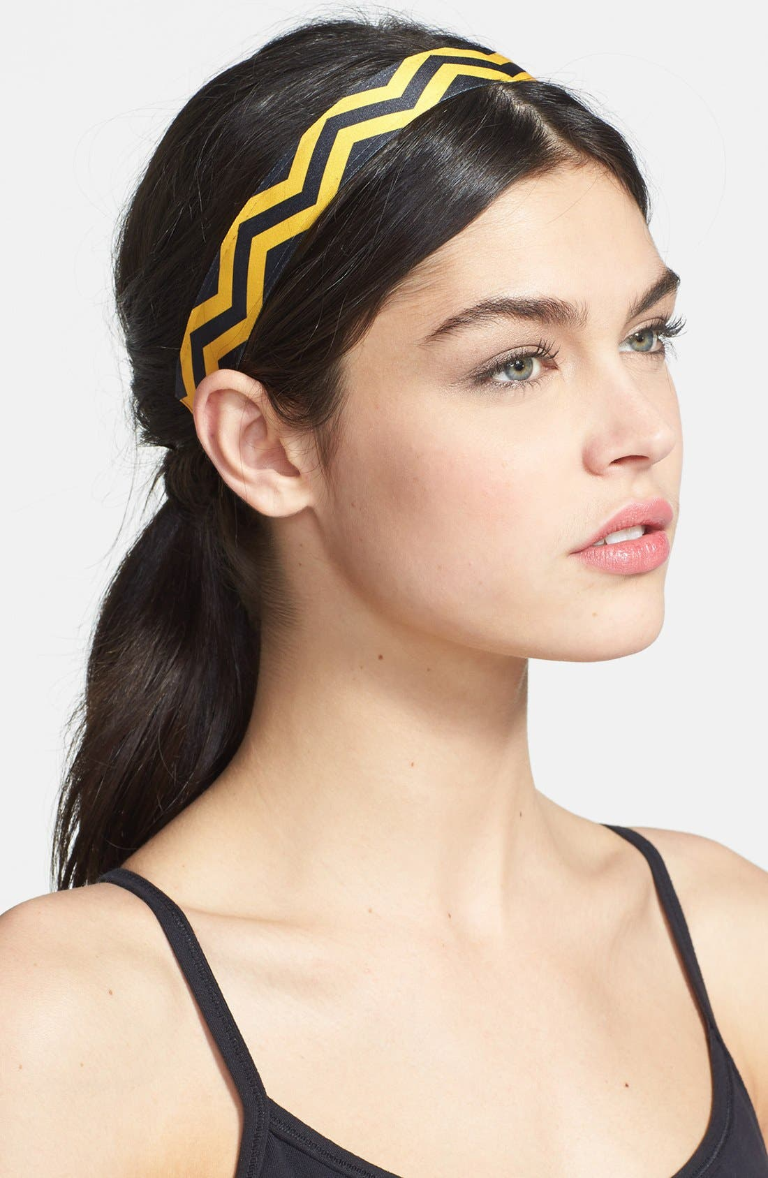 'Chevron Slide' Head Wrap, Main, color, 001