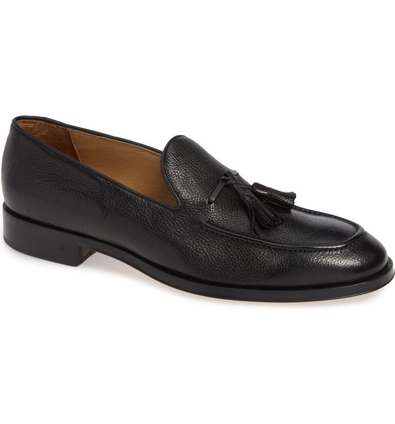 ALLEN EDMONDS Perugia Tassel Loafer, Main, color, BLACK LEATHER