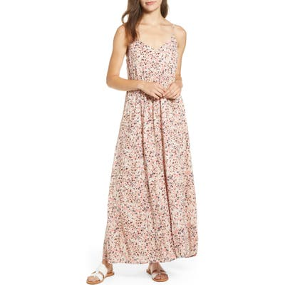 Caslon Print Slip Maxi Dress, Pink