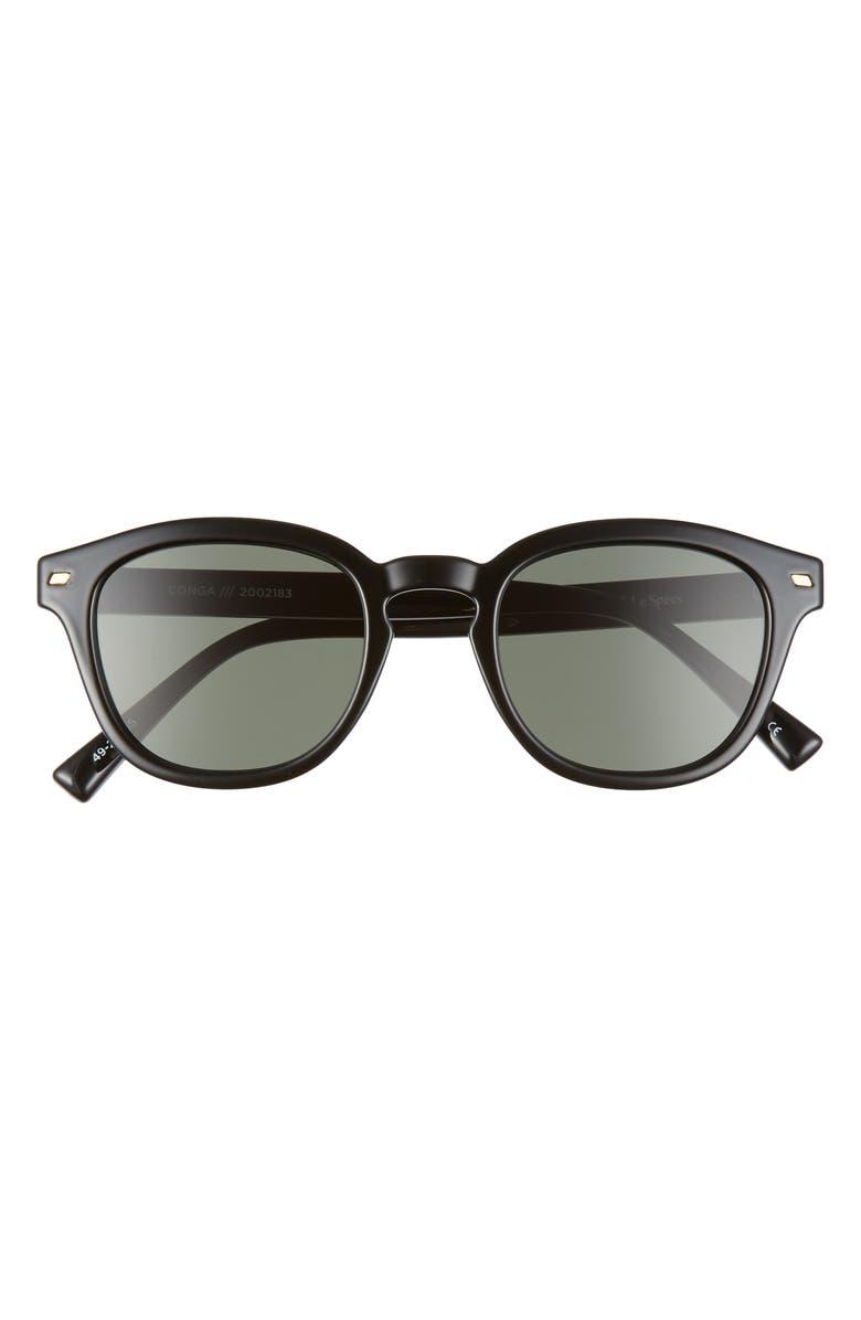LE SPECS Conga 49mm Round Sunglasses, Main, color, 001