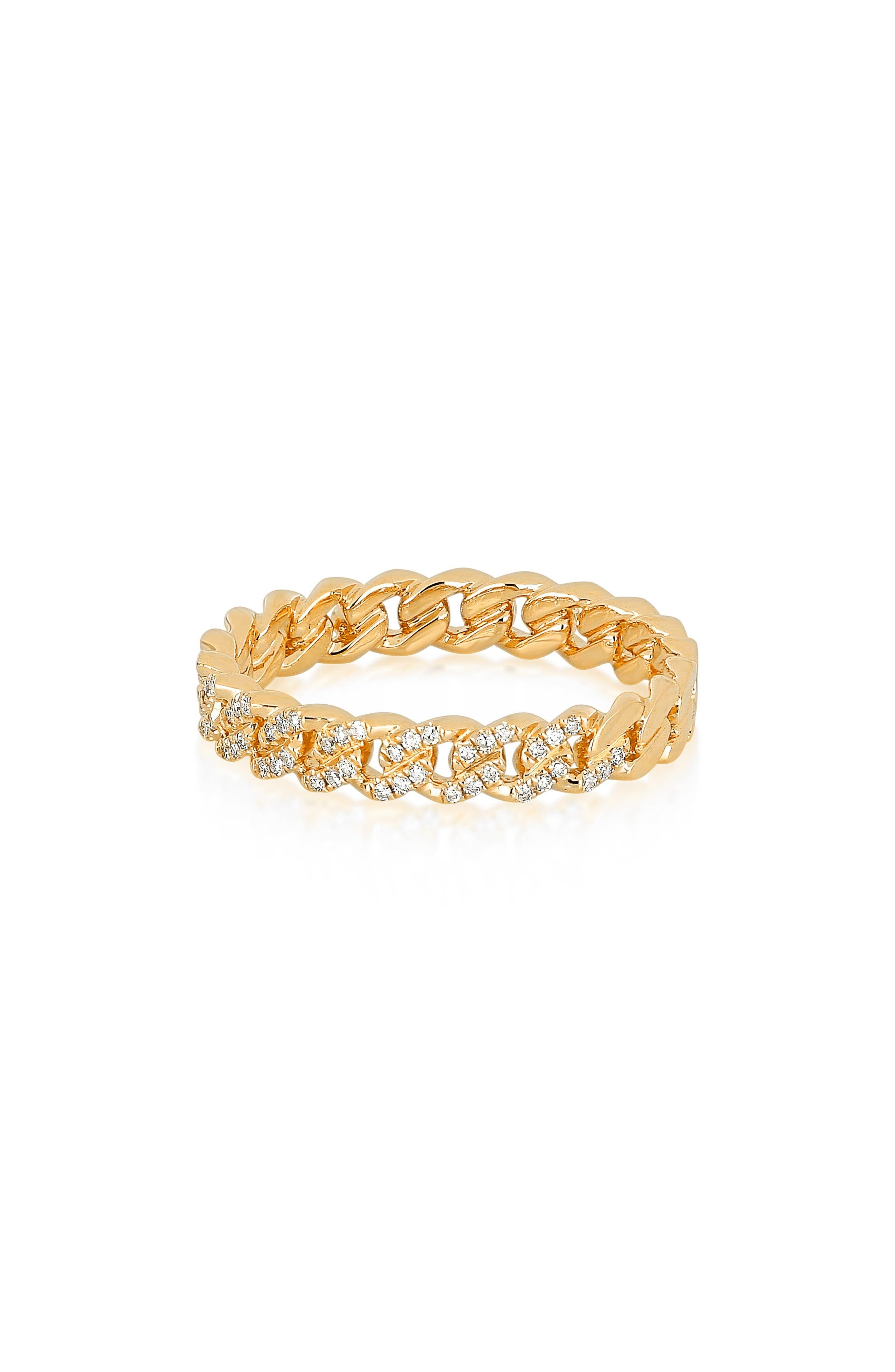 Diamond Mini Curb Chain Ring