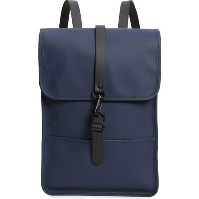 Rains Waterproof Navy Mini Backpack - Blue