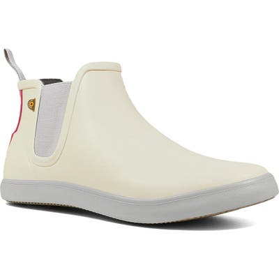 Bogs Kicker Chelsea Waterproof Rain Boot, Ivory