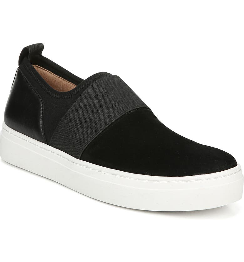 NATURALIZER Cassey Slip-On Sneaker, Main, color, BLACK LEATHER