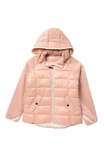 Image of Michael Kors Quilted Puffer Jacket With Detachable Hood