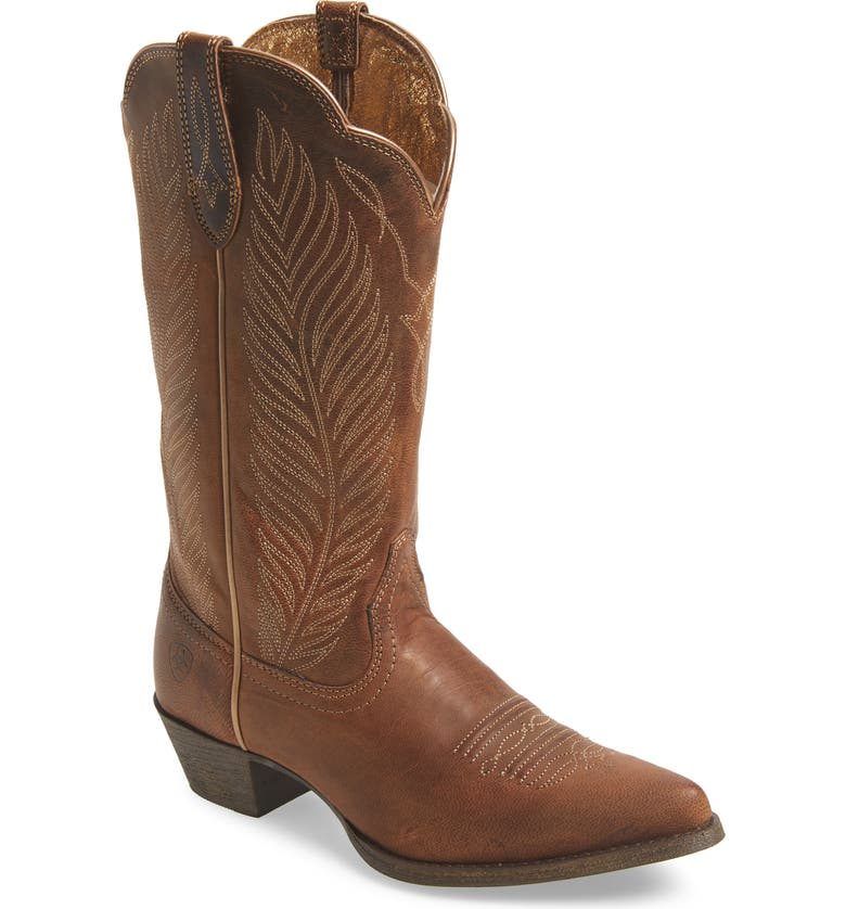 ARIAT Round-Up Johanna Western Boot, Main, color, PEARL LEATHER