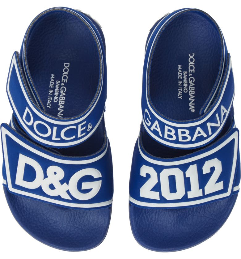 DOLCE&GABBANA Jelly Fisherman Sandal, Main, color, BLUE/ WHITE