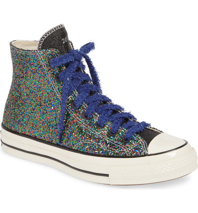 CONVERSE x JW Anderson Chuck Taylor<sup>®</sup> All Star<sup>®</sup> 70 High Top Sneaker, Main, color, BLACK/ WHITE/ EGRET