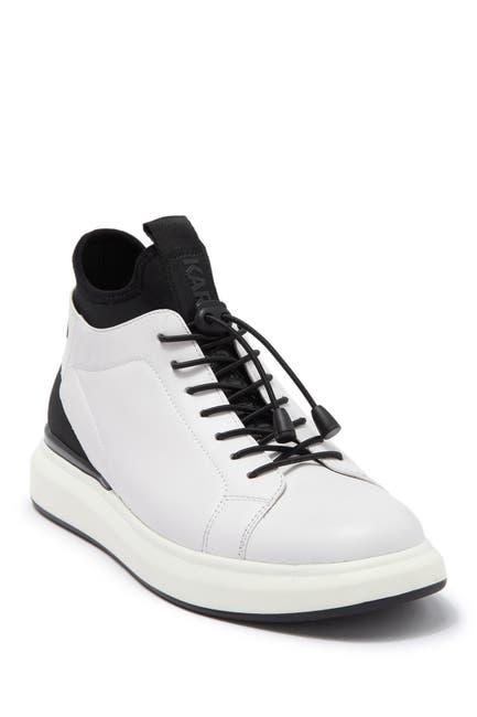 Image of Karl Lagerfeld Paris Leather High-Top Sneaker