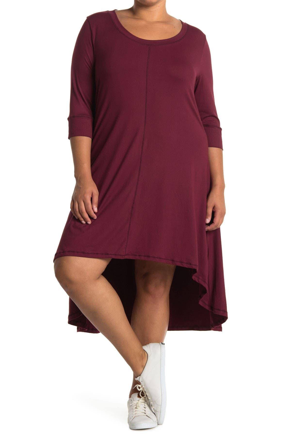 Forgotten Grace 3/4 Sleeve Hi-Lo Knit Dress at Nordstrom Rack