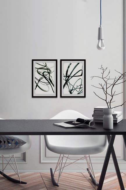 Image of Marmont Hill Inc. Toxic Lines Diptych Wall Art