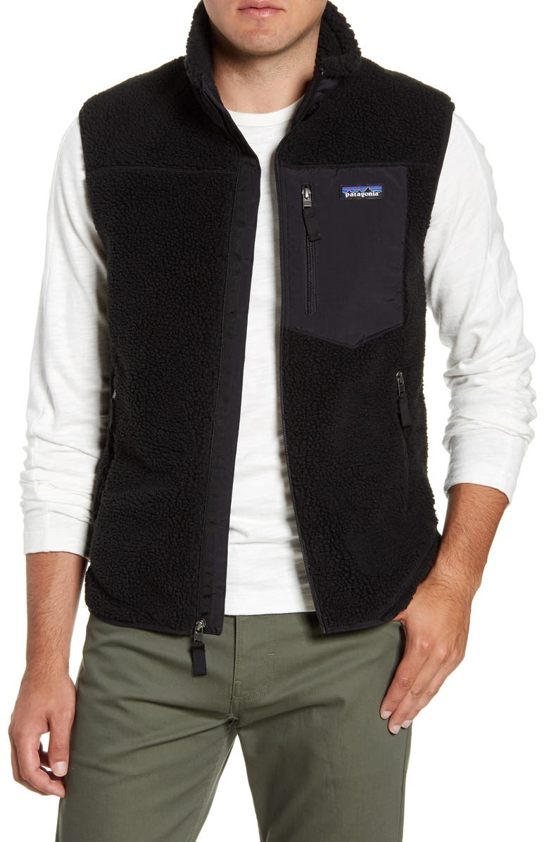 PATAGONIA Classic Retro-X<sup>®</sup> Windproof Vest, Main, color, BLACK/ BLACK
