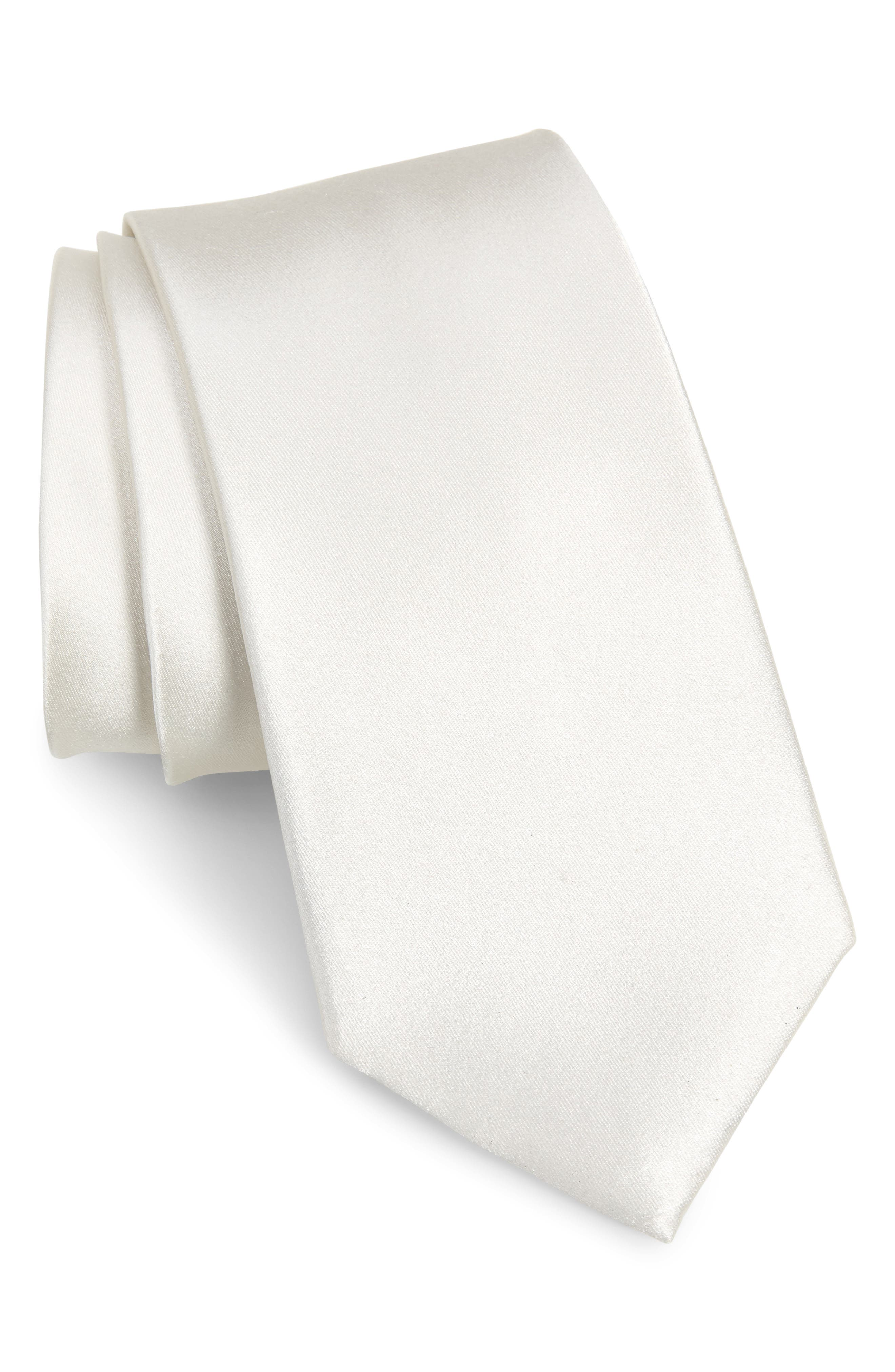 A tasteful satin sheen defines a handsome tie cut from pure silk. Style Name: Nordstrom Men\\\'s Shop Solid Silk X-Long Tie. Style Number: 5933938 1. Available in stores.