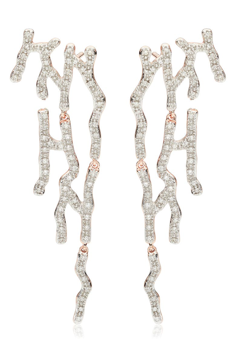 Riva Waterfall Diamond Cocktail Earrings by Monica Vinader