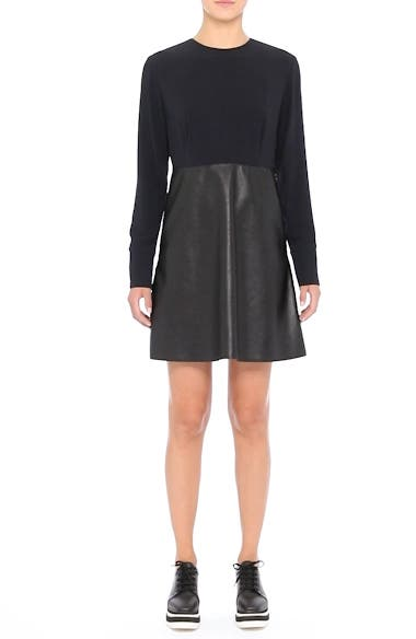 Alter Leather & Stretch Cady Dress, video thumbnail