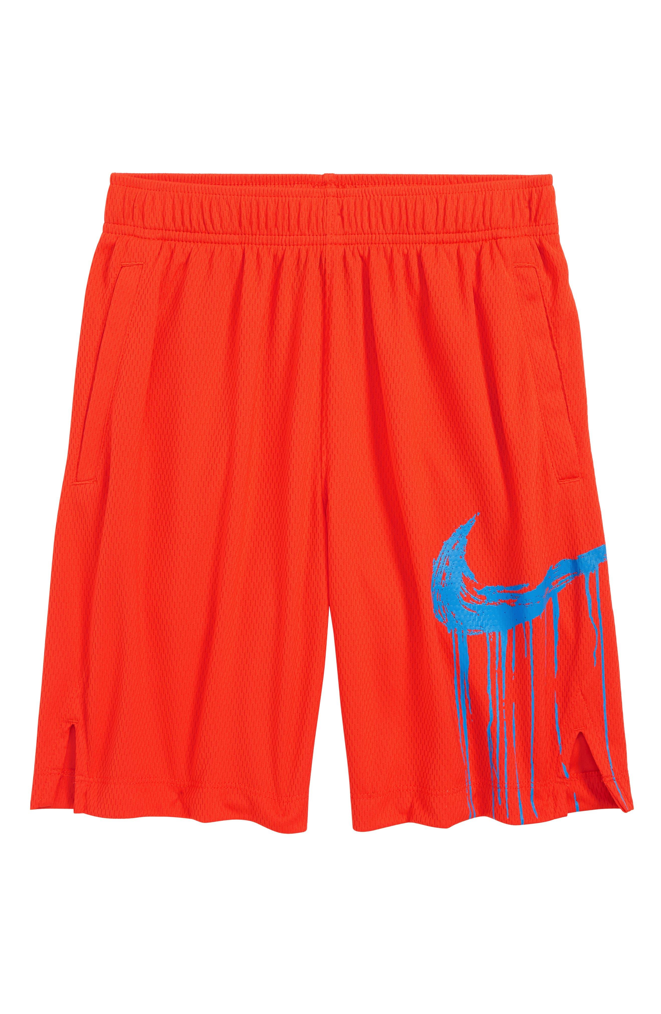 Boys Nike Dry Gfx Shorts Size XL (16)  Red