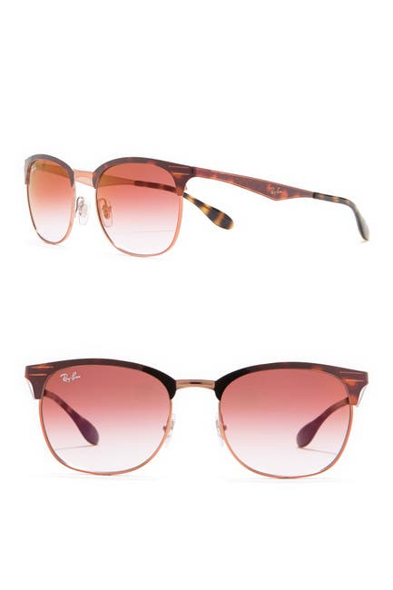 Image of Ray-Ban Highstreet 53mm Clubmaster Sunglasses