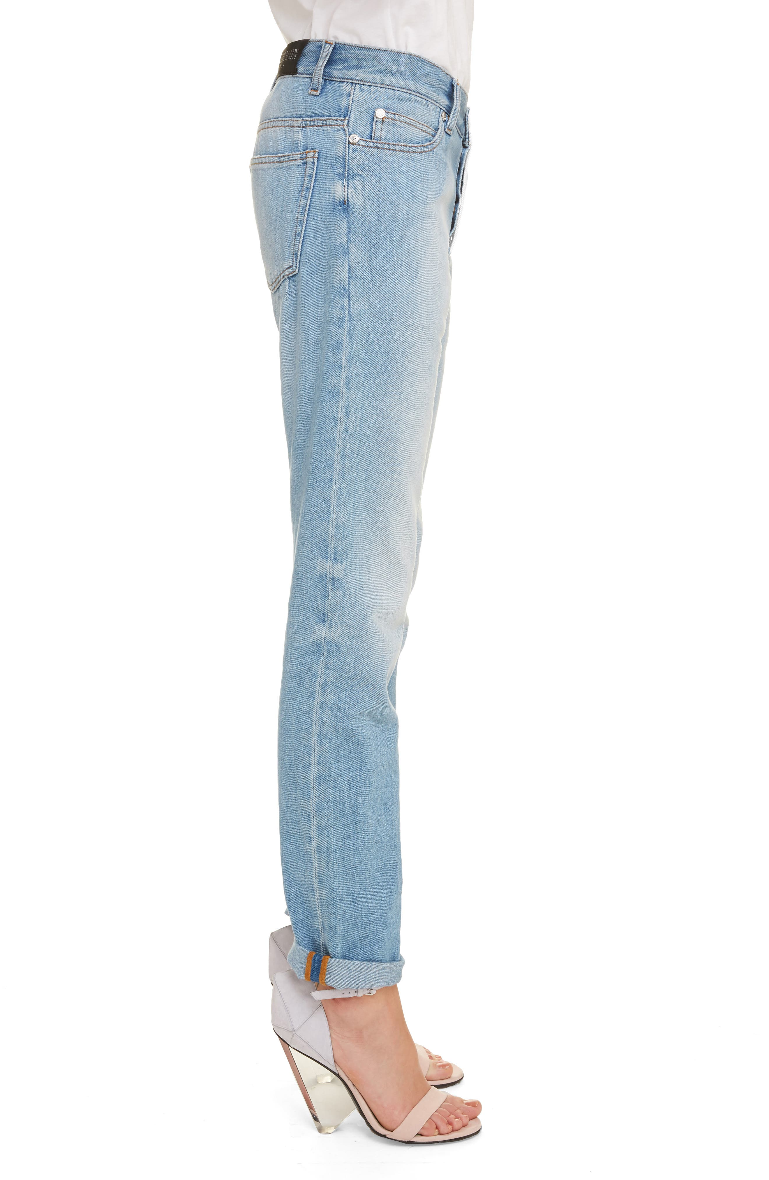 ,                             Straight Fit Jeans,                             Alternate thumbnail 3, color,                             BLEU JEAN