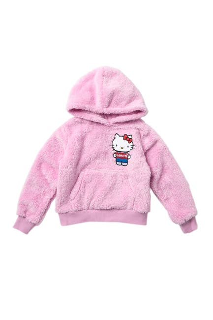 Image of Levi's x Hello Kitty Faux Shearling Hoodie