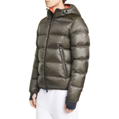 Moncler Grenoble Hintertux Hooded Down Jacket, Green