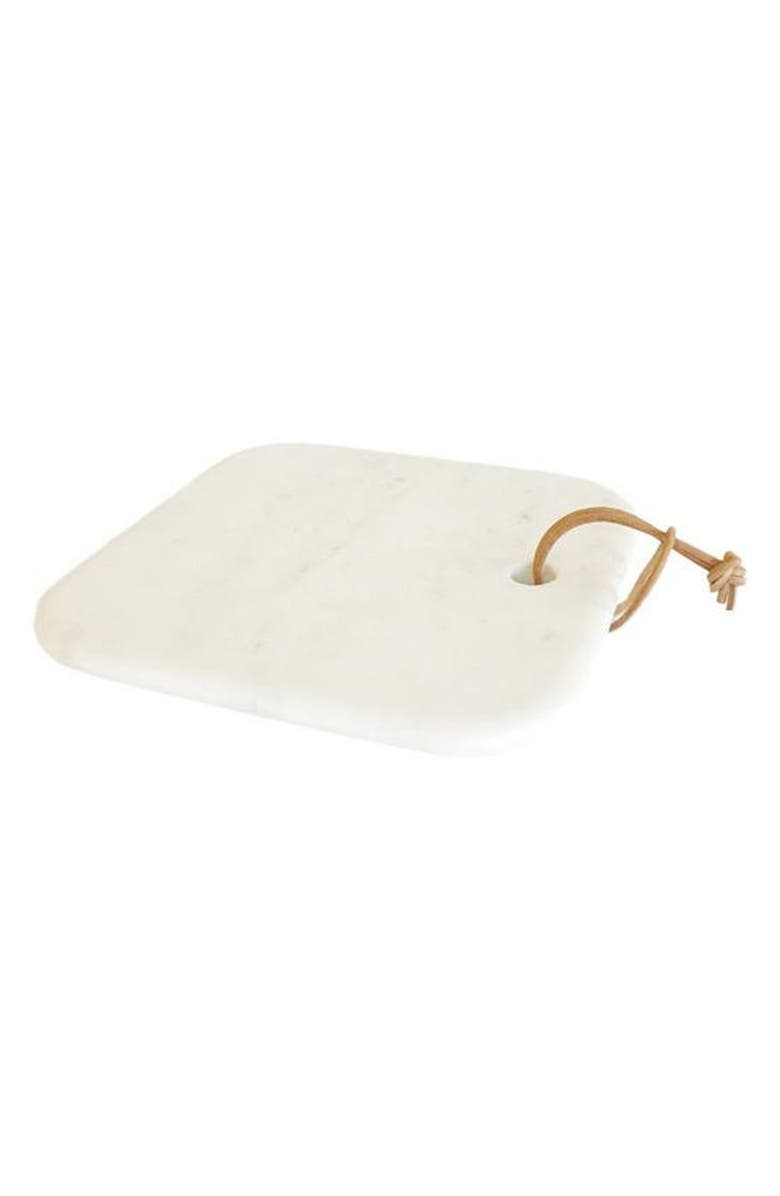 CARAVAN Medium Pepe Marble Cheese Board, Main, color, WHITE