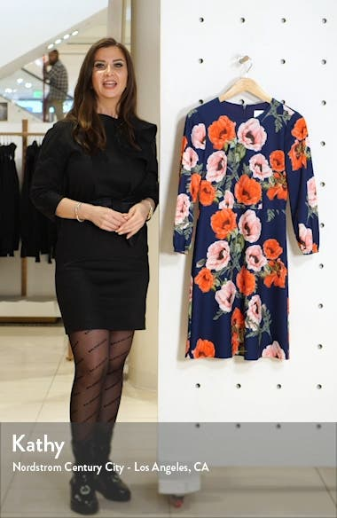 Floral Blouson Sleeve Dress, sales video thumbnail