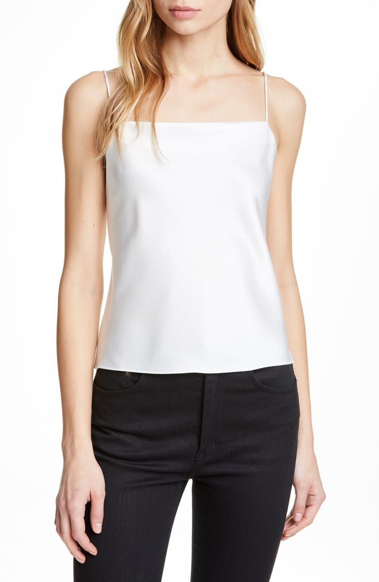 ALICE + OLIVIA Harmon Drapey Camisole, Main, color, OFF WHITE