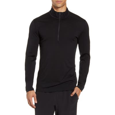 Icebreaker 200 Oasis Merino Wool Half Zip Base Layer, Black