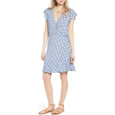 Rails Leanne Ruffle Wrap Dress, Blue