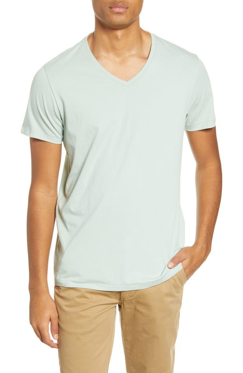 BONOBOS Slim Fit V-Neck T-Shirt, Main, color, SPIRIT LAMP
